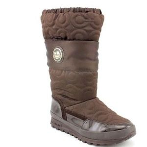 Coach Drexel Boots Brown Quilted Signature  7.5